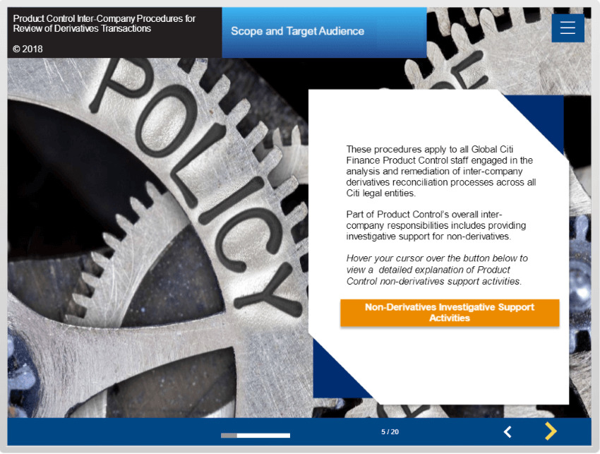 Financial Product Training Elearning For Product Control And Reporting